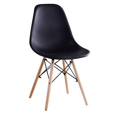 Полипропилен Дерево DIY обеденный стул современный дешевый обеденный бар встречи гостиная Кофейня бук деревянный стул Лофт стулья мебель для дома - Цвет: HH381300BL