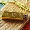Real Capacity New Gold Bar USB 3.0 Flash Memory Drive Stick Disk Key 8/16/32/64/128GB USB Flash Drive Pendrive Storage Unit Gift