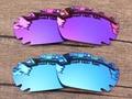 Плазмы Фиолетовый и Синий 2 Пары Зеркало Поляризованных Сменные Линзы Для Jawbone Вентилируемый Солнцезащитные Очки Кадров 100% UVA и UVB Защиты