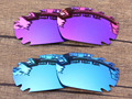 Plasma Purple & Blue 2 Pairs Mirror Polarized Replacement Lenses For Jawbone Vented Sunglasses Frame 100% UVA & UVB Protection
