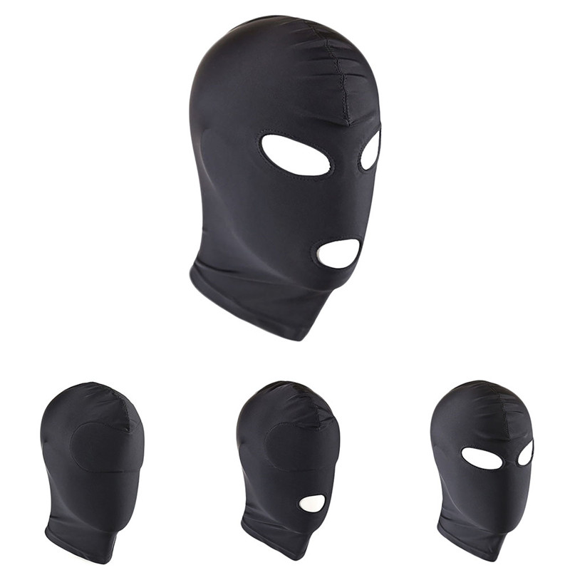 High Stretchy Breathable Sponge Hood Mask Head Bondage Mask Hood