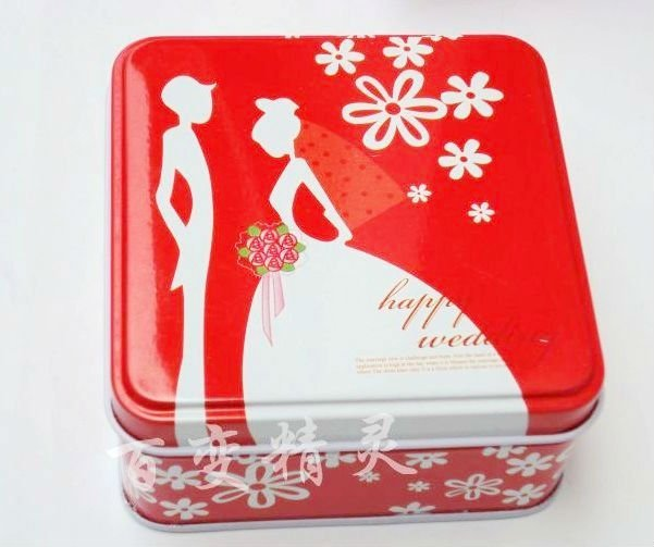 Wedding Dress Gift tin box/ Jewelry earing Case/ wedding candy gift case/ chocolate Box/ vintage Stationery wholesale