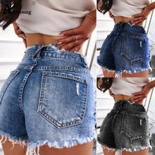 Plus Size S-3XL Womens Sexy Jeans Shorts 2019 New Summer Booty Shorts Mini Denim Short Ladies Casual Jean Tassel Hole Shorts
