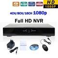 Новый Full HD 1080 P Сетевой Видеорегистратор H.264 4-КАНАЛЬНЫЙ 8-КАНАЛЬНЫЙ 16-КАНАЛЬНЫЙ ВИДЕОРЕГИСТРАТОР NVR IP P2P Сетевой Безопасности Видеонаблюдения ONVIF HDMI Выход
