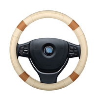 Car steering wheel cover auto accessories for honda accord 7 8 9 airwave br v city crosstour CR V HR V element fit JAZZ