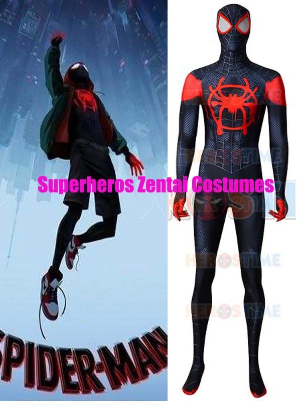 Miles Morales Spider-Man Costume 3D Print Into the Spider-Verse Superhero Suit