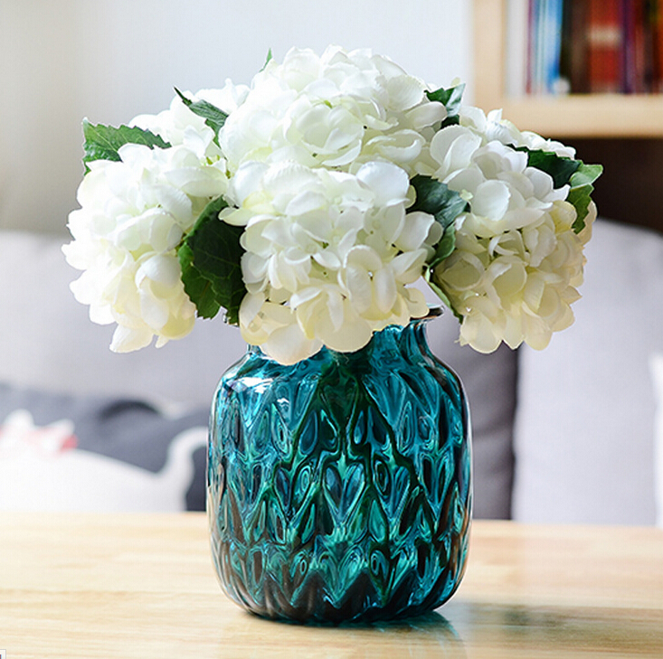 10 pcslot small white hydrangea living room table flower 10 pcslot small white hydrangea living room table flower artificial flower wedding party event banquet free shipping mightylinksfo