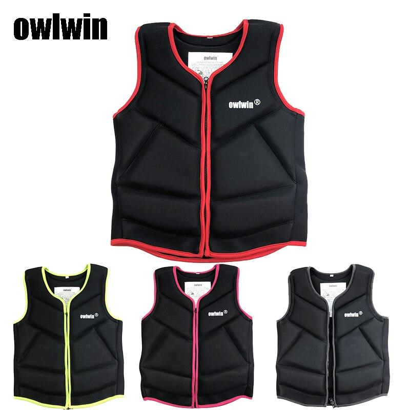 Owlwin lifejacket, adult children, buoyancy vest, water jacket, fishing boat, drifting flood surfing vest.life vest