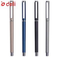 Deli 12PCS/set Gel Pen Ink 0.5mm 4 Colors Business Gel Pen Black Ink Writing Neutral Pen Stationery Office School Supplies