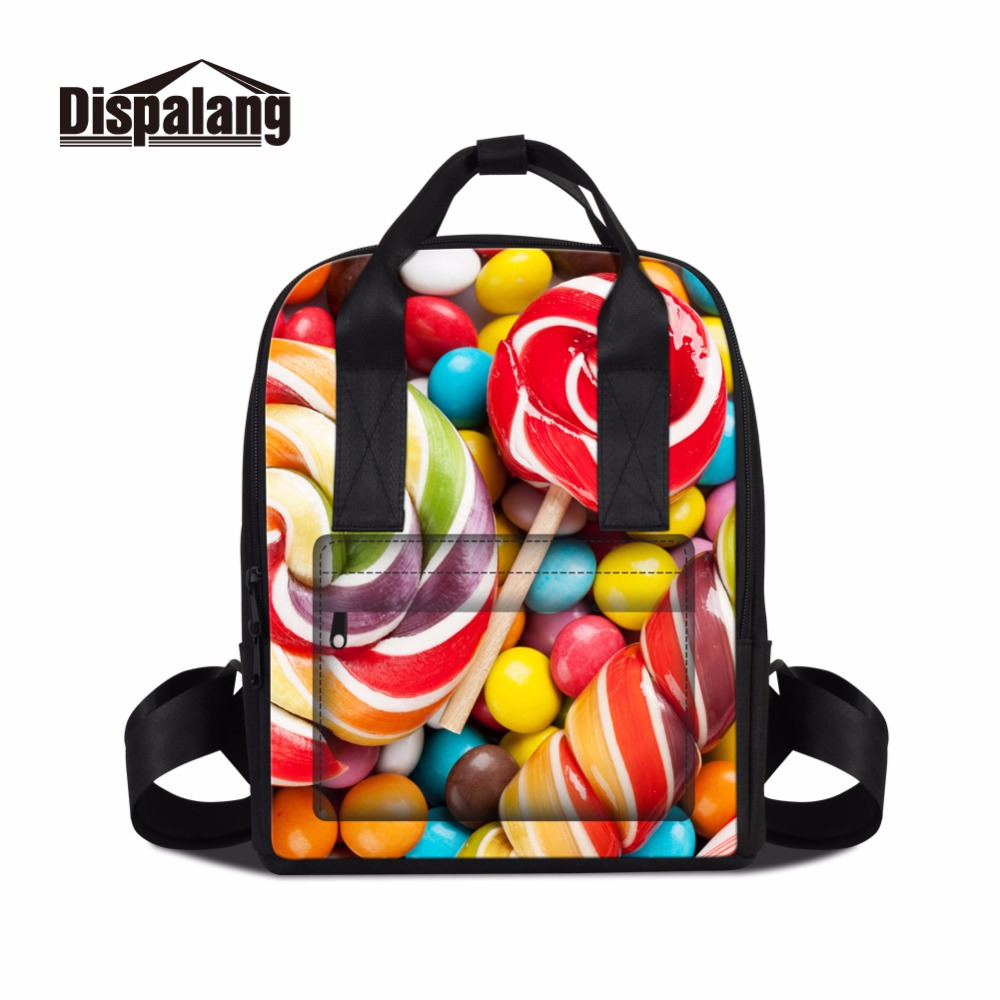Dispalang summer style leisure travel backpack for women lollipop pattern cute girl school bag lightweight bookbag for college dispalang soccerly school backpack for teenager boys basketbally bookbag for primary student lightweight back pack pencil bags