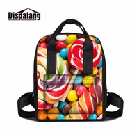 Dispalang summer style leisure travel backpack for women lollipop pattern cute girl school bag lightweight bookbag for college