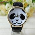relogio masculino erkek kol saati reloj mujer Faux Leather Band Watch Fashion Panda Quartz Wrist Women Watchs