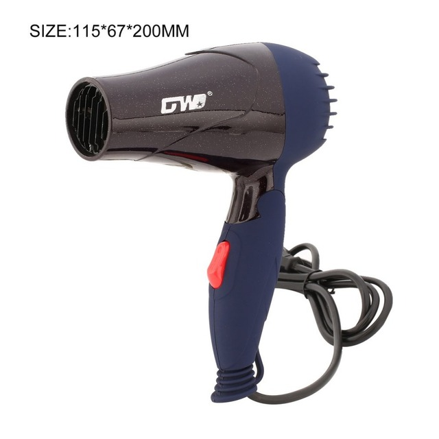 1500W Mini Foldable Hair Dryer Blower Travel Household Electric Hair Blow Dryer Hot Wind Low Noise Hairdryer EU Plug AC 220V 6
