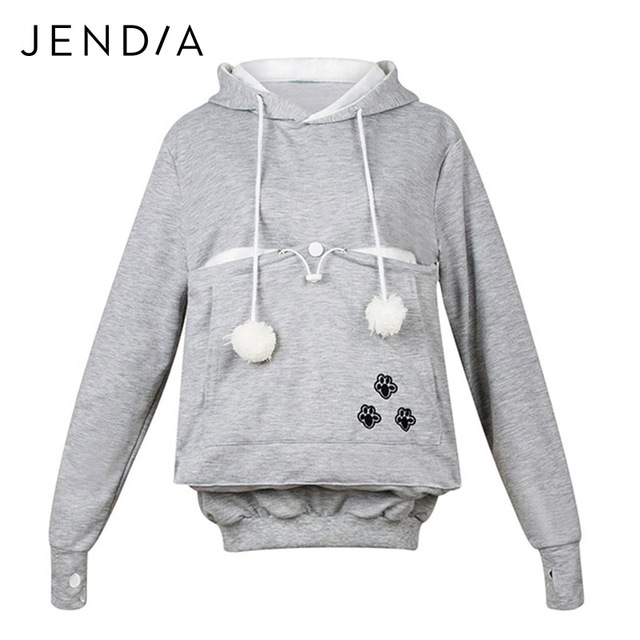 JENDIA Cute Cat Hoodie Sweatshirts With Cuddle Pouch Dog Pet Hoodies For Casual Pullovers With Ears Kangaroo Pocket Pullovers