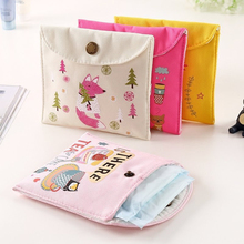 Girls Diaper Sanitary Napkin Storage Bag Canvas Sanitary Pads Package Bags Coin Purse Jewelry Organizer Credit Card Pouch Case 3 2017 new casual candy color bags for girl cotton diaper sanitary napkin package bag storage organizer makeus bag free shipping