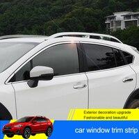 QHCP 8 шт./компл. нержавеющая сталь окна автомобиля полосы отделка украшения наклейки снаружи Авто интимные аксессуары специально для Subaru XV 2018