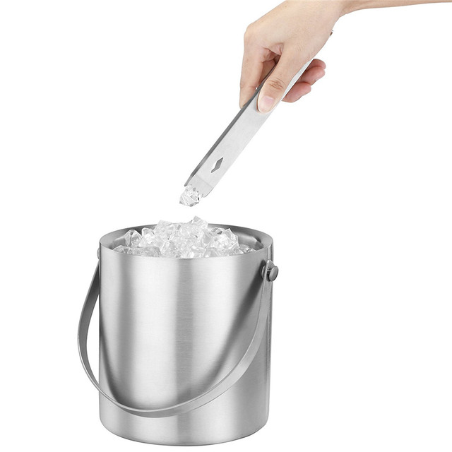 realand 2 3l stainless steel double wall insulated ice bucket for