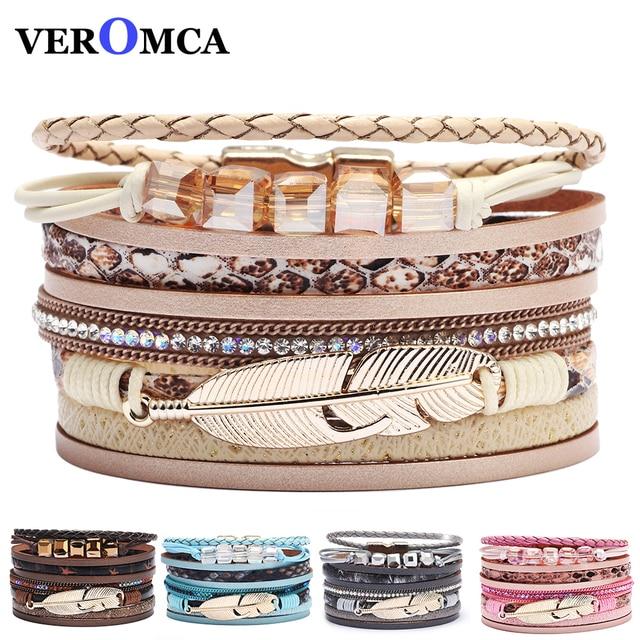 Bohemian Style Multilayer Beads Bracelet Women Grid Style Shiny Jewelry Decoration Girl Gift Bracelets Multiple Colors 19cm