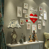 Modern Minimalist Ahşap Fotoğraf Çerçevesi Set İskandinav Duvar Asılı Fotoğraf Çerçevesi Oturma Odası Yatak Odası Aşk Duvar Resimleri Dekorasyon Tasarım