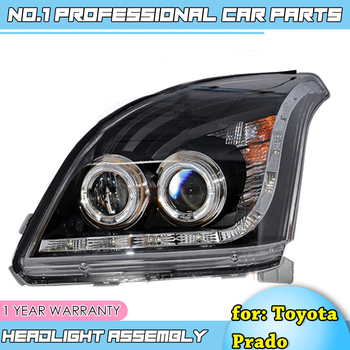 car accessories Headlights For Toyota prado 2003-2009 Car Led Lights Double Xenon Lens Car Accessories Daytime Running Lights