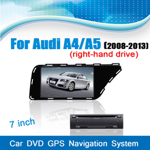 Car GPS Navigaiton System DVD Player Stereo Media Audio Player for Audi A4/A5(2008-2013) (right steering wheel) with Bluetooth