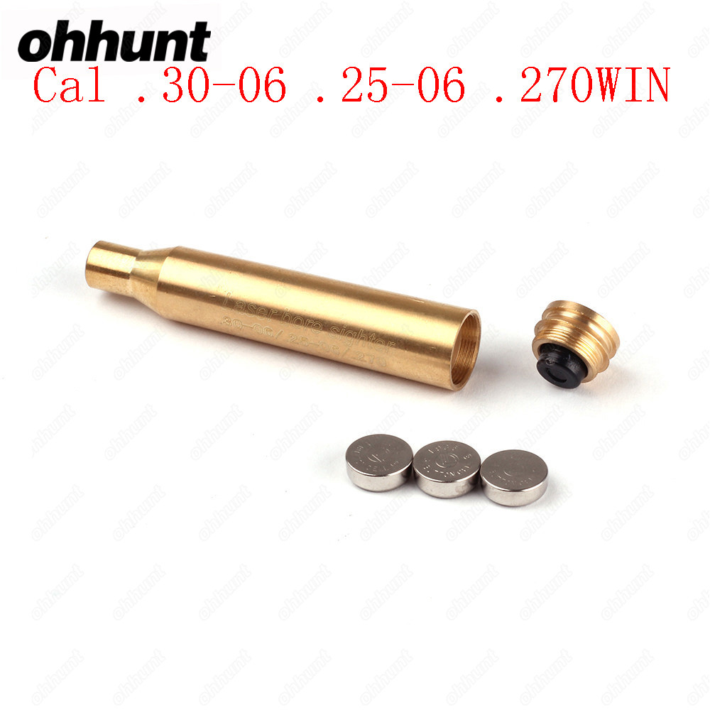 Ohhunt Tactical CAL.30-06 .25-06 270WIN Cartridge Calibration Instrument Red Laser Boresighter Collimator Used for Hunting Rifle