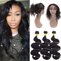 360 Lace Frontal Closure With Bundles Peruvian Body Wave 360 Frontal With Bundles Top Peruvian Virgin Hair With frontal Closure