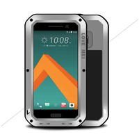 Case For HTC 10 New Gorilla Glass Waterproof Phone Metal Case Shock Dirt Proof Cover Stand