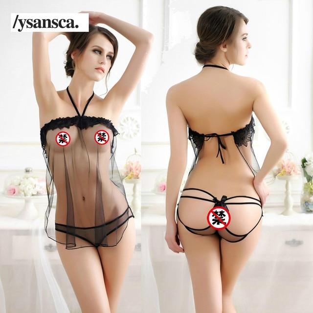 Female Erotic Porn Sexy Costumes Lingerie Net Nightie Nightdress Nightwear Crotch Dress Body Stocking Women Intimates