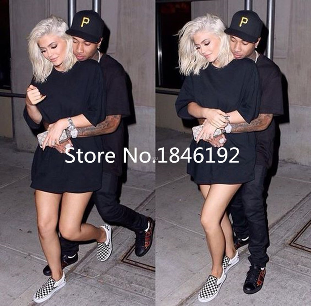 2016 Kylie Jenner Platinum Blonde Grey Hair Synthetic Lace Front