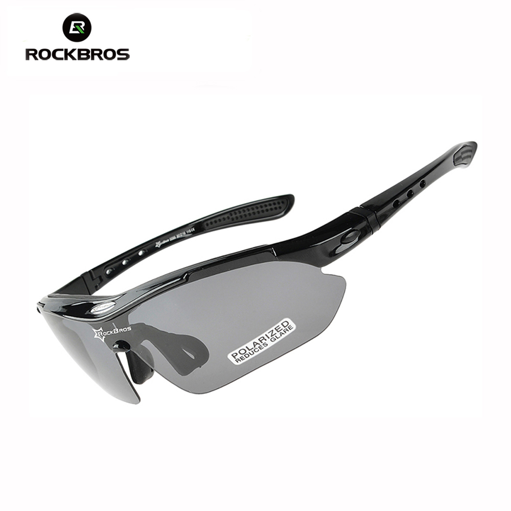RockBros Polarized Cycling Sun Glasses Bike Bicycle Goggles UV Protection Sports Eyewear 5 Lens 4 Colors