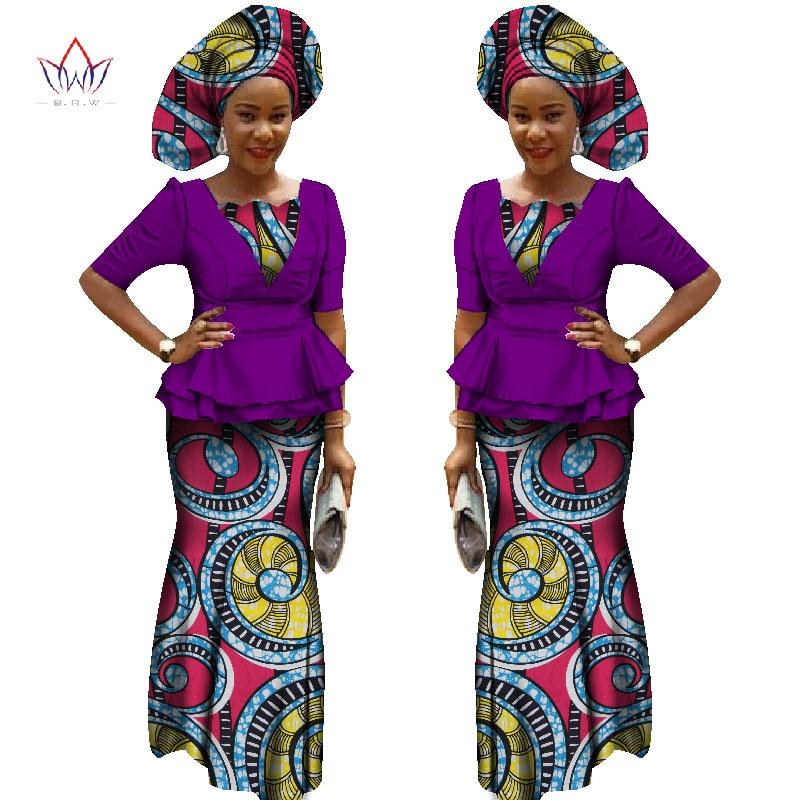 Afrikaanse Jurken voor Dames Halflange Mouwen Tops + Maxi Jurk - Traditionele kleding