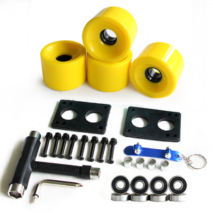 Image 3 - Longboard Wheels Set 70mm 78A Colorful PU Skateboard Wheels Transparent With Riserpad And Bearing Bolts Screws