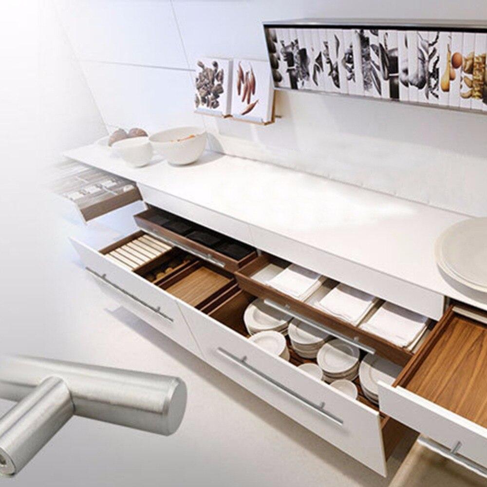 12mm cocina puerta armario T bar mango Acero inoxidable cajón ...