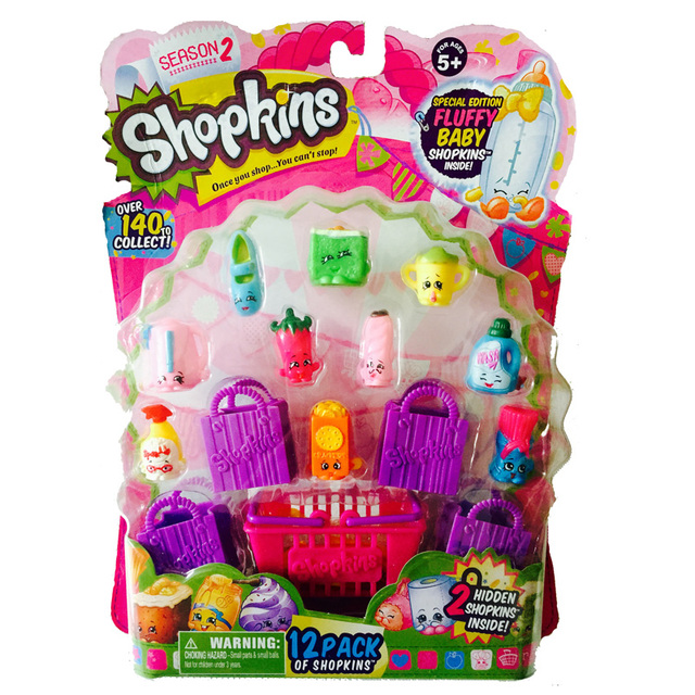 2015 Hot Model Shopkins Kids Toy Season 2 12Pack Shopping Basket SEASON