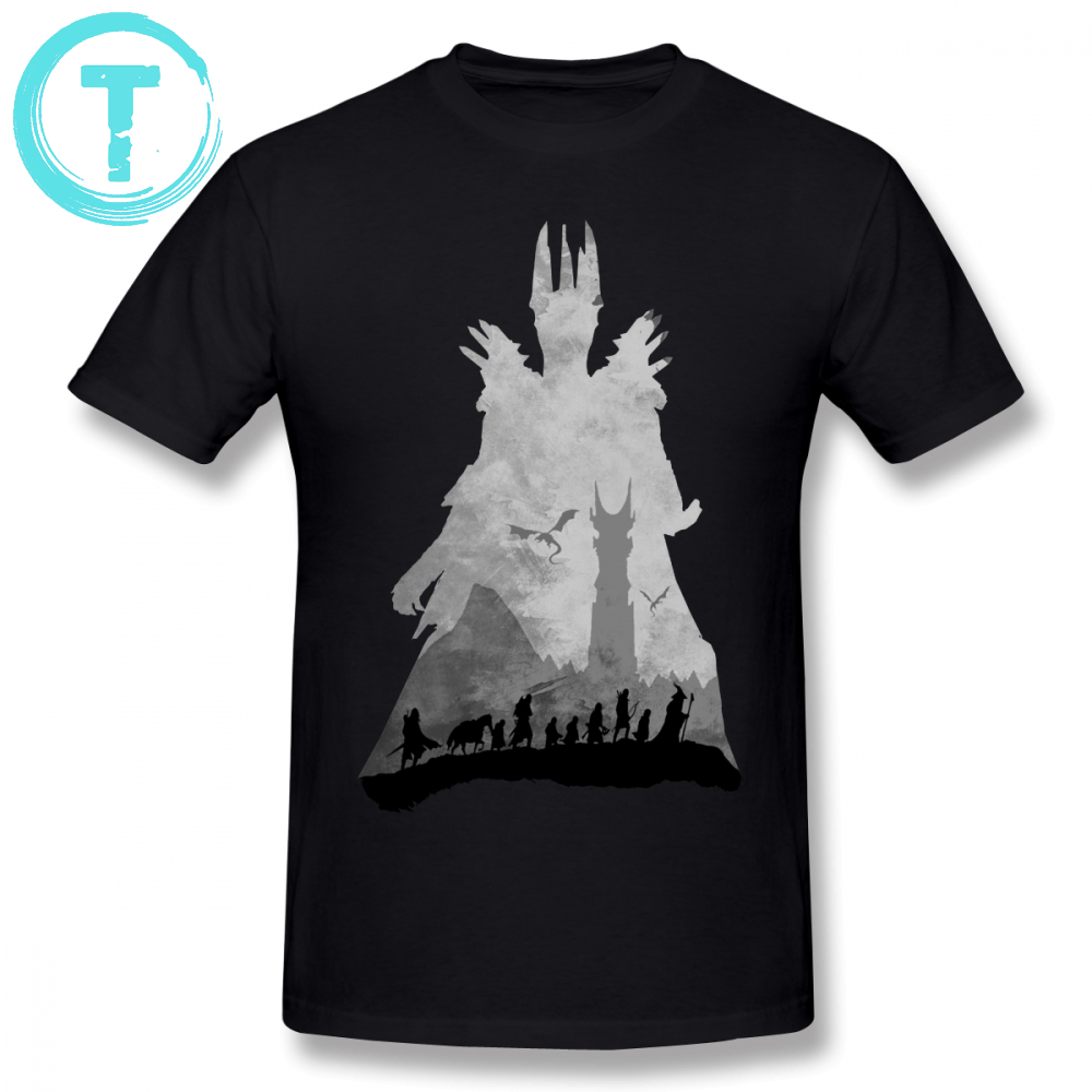 Lord Of The Rings   T     Shirt   Sauron The Fellowship   T  -  Shirt   100 Cotton Streetwear Tee   Shirt   Cute Men Short-Sleeve Printed Big Tshirt