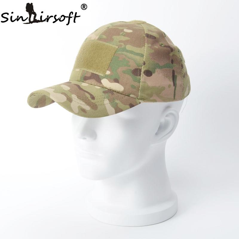 цена на SINAIRSOFT Hiking Male Hat Summer Camping Man's Camouflage Tactical Hat Army Fishing Bionic Baseball Cadet Military Cap