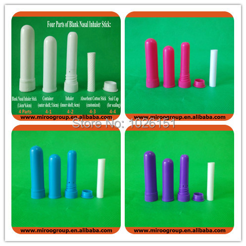 Hotsale 2017 Nasal Inhaler Blank with High Quality Cotton Wicks herbal refreshing nose blank inhaler 102sets