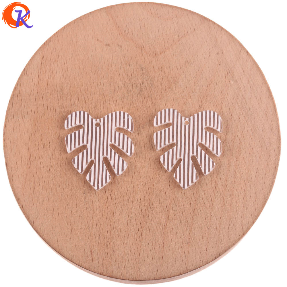 Image 4 - Cordial Design 25*28mm 100Pcs Jewelry Accessories/Earring Connectors/Leaf Shape/DIY Jewelry Making/Hand Made/Earring FindingsJewelry Findings & Components   -