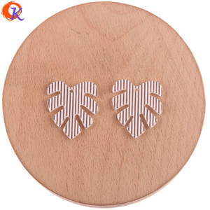 Image 4 - Cordial Design 25*28mm 100Pcs Jewelry Accessories/Earring Connectors/Leaf Shape/DIY Jewelry Making/Hand Made/Earring Findings