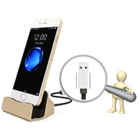 Aluminium Magnetic Charging Dock Stand Station Cradle Magnetic Desktop Charger For Ipad IPhone 5 5C 5S