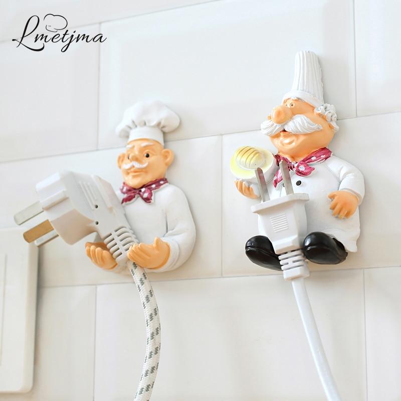 2pcs/lot Cute Self Adhesive Wall Plug Holder