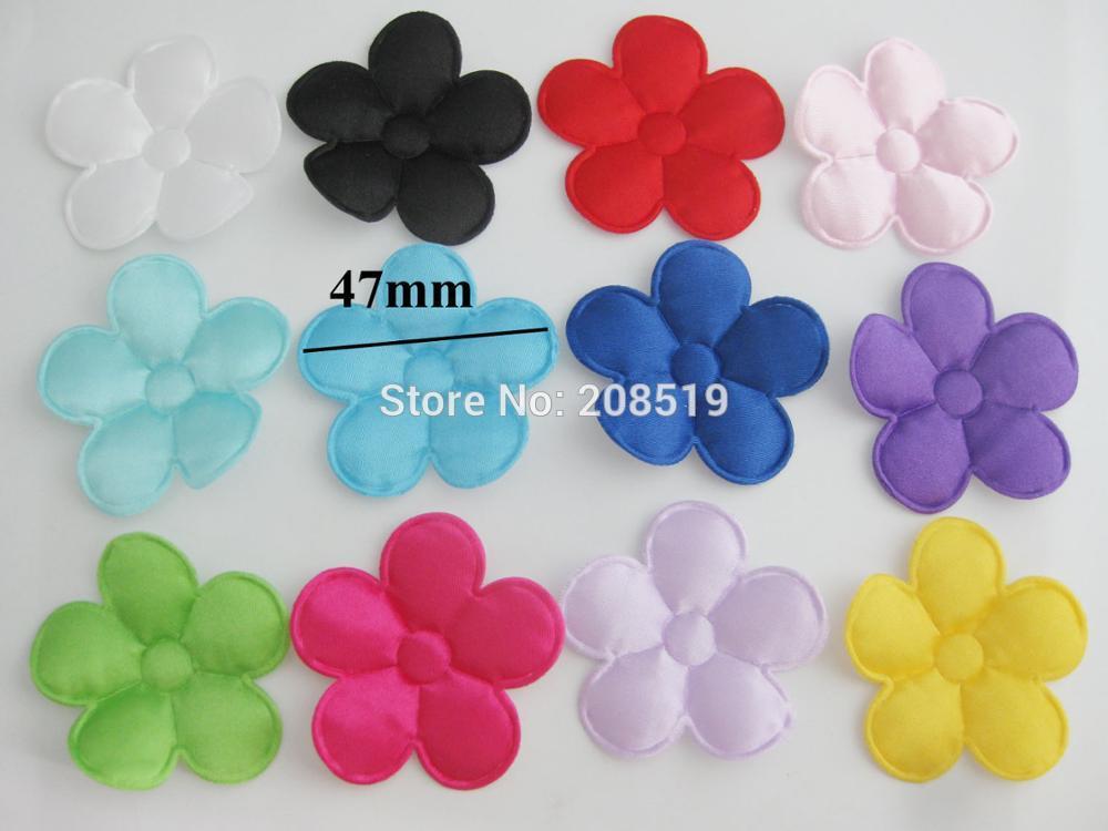 PANVGG 47 мм Цветочные аппликации 12 видов цветов DIY Скрапбукинг Цветочные нашивки 120 шт. головные уборы цветочный орнамент войлочный - Цвет: mix colors 47mm