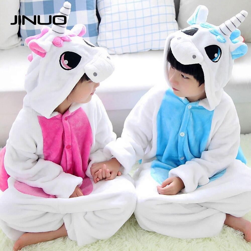 JINUO Kigurumi Children Pajamas Animal Inflatable Kids Pink Unicorn Costume Onesie Footie Pajamas Baby For Girls