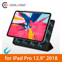 2019 New Tablets Case For iPad Pro 12.9 2018 Magnetic Suction Tri-Folds Smart Tablet Cover