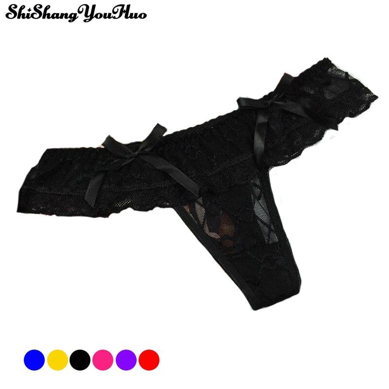 Buy Sexy Bandage G String Women's Ruffles Thongs Panties Intimates Breathable Briefs Lingerie Underwear Bragas Mujer Calcinhas 1333