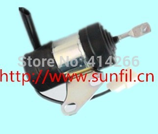 5pcs/lot  Fuel Shut Off Stop Solenoid 16851-60014, 052600-4531 B7410D BX1500D BX1800D,12V free fast shipping for kubota fuel shut off solenoid 16851 60010 16851 60014 052600 4531 for denso b7410d bx1500d bx1800d