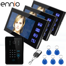 ENNIO SY816A-MJIDS13  7 inch password Inductive Card video intercom wireless Video Door Phone 1000TVL Intercom System Doorphone