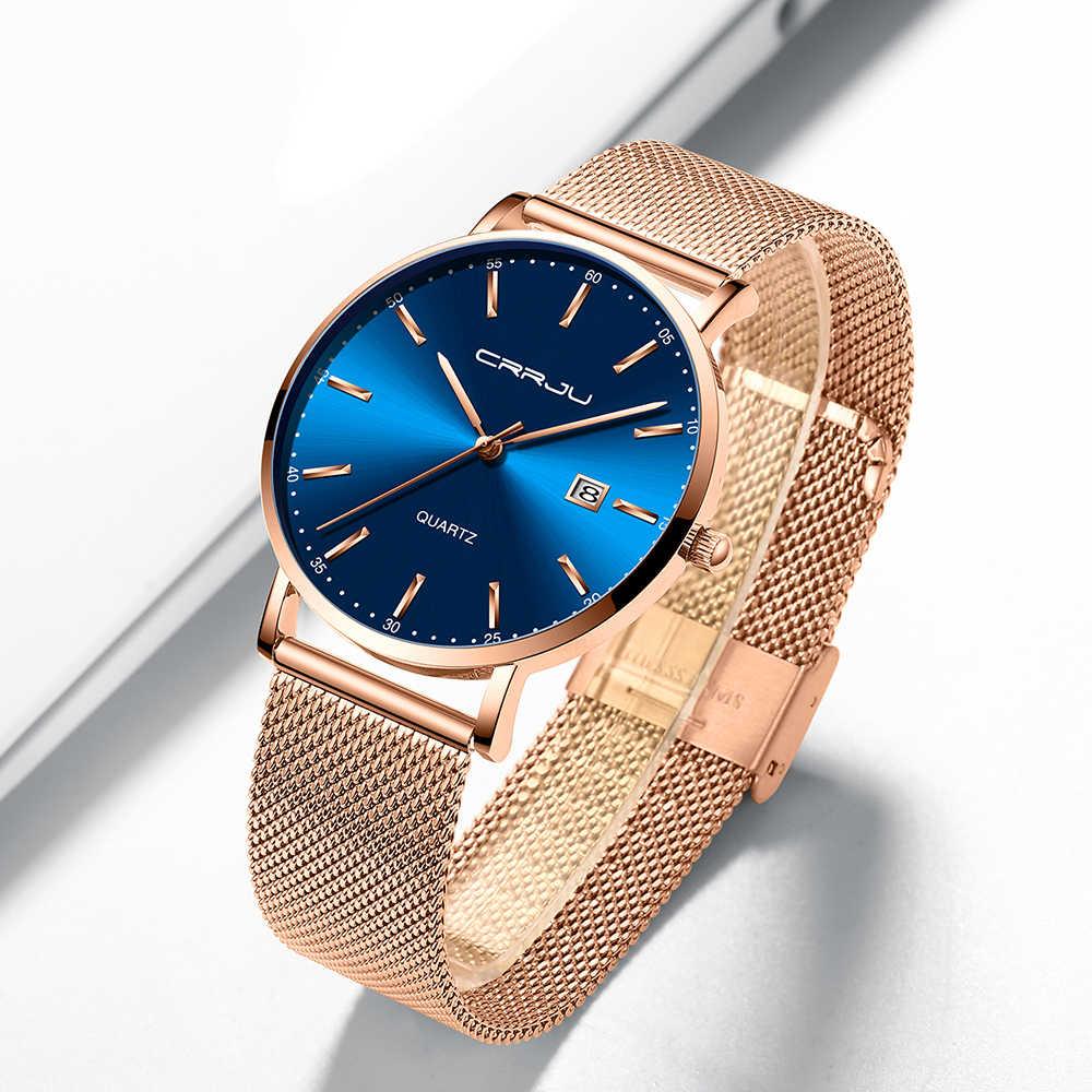 CRJU Luxo Moda Mulher Bracelet Watch Mulheres Casual amante Relógio de Quartzo Das Senhoras Vestido Relógios Presente relogio feminino À Prova D' Água