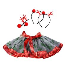 Newborn Baby Girls Dress Christmas Tutu Dress Infant Costume Baby Photography Outfits With Hair Hoop Photosession Of Newborns(China)